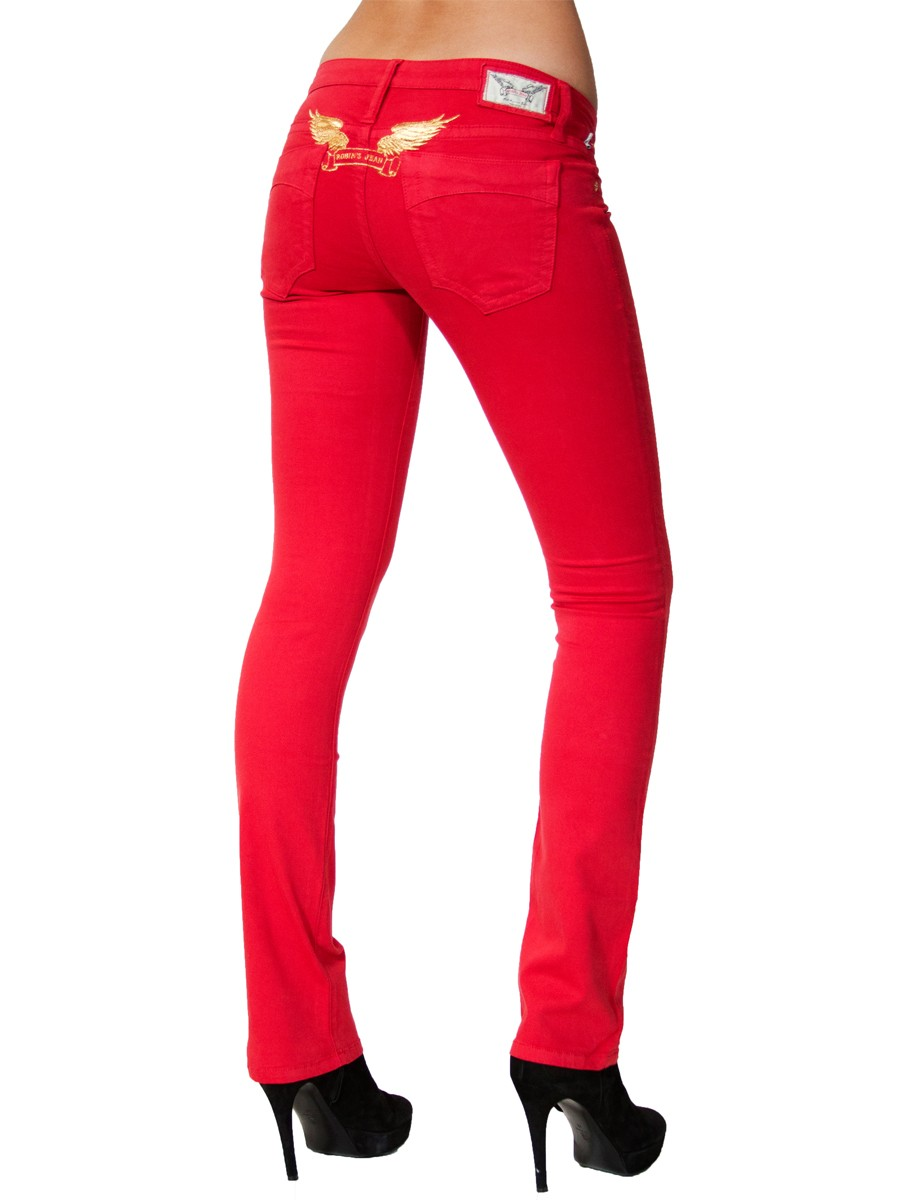 Red Jeans. Design House: Versace. All products are original, authentic name brands. We do not sell knockoffs or imitations. When applying any fragrance please consider that there are several factors which can affect the natural smell of your skin and, in turn, the way a scent smells on you.