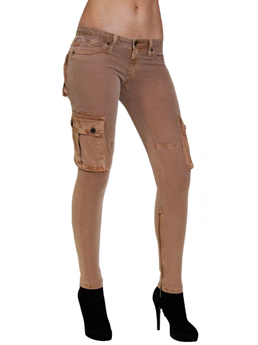 ZIPPER MILITARY KHAKI - Skinny - Jeans - Women